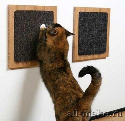 Когте-точилка для кошек близкими руками