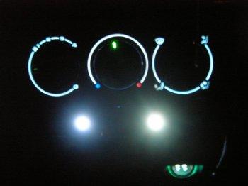 Подсветки регуляторов печки