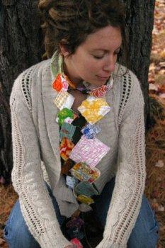 Необычный осенний шарфик