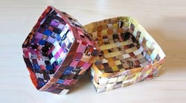 Плетение корзин из бумаги
