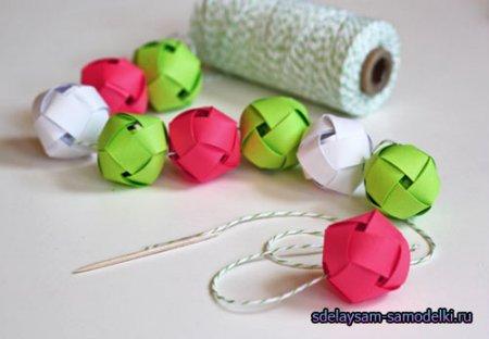 Гирлянда из шаров своими руками