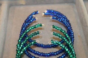 «Морской» браслет из бисера