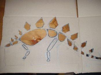 Как сделать динозавра из картона и пластилина?