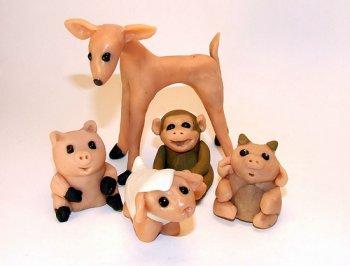 Как сделать животных из глины?