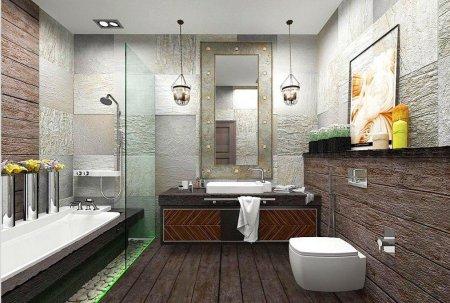 Лофт: советы по оформлению ванной комнаты