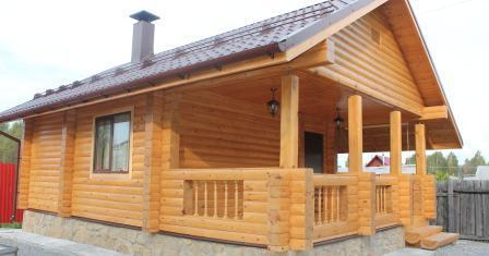 Залог долговечной постройки - это построить баню из бруса.