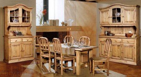 Кухни из массива сосны - изысканная мебель для дома
